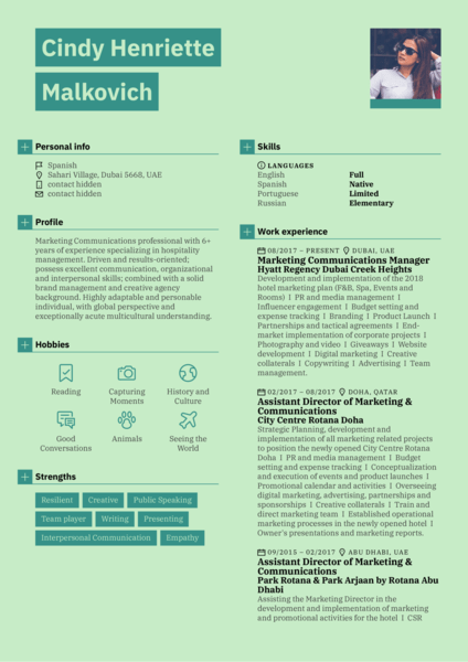 Marketing communications manager resume example