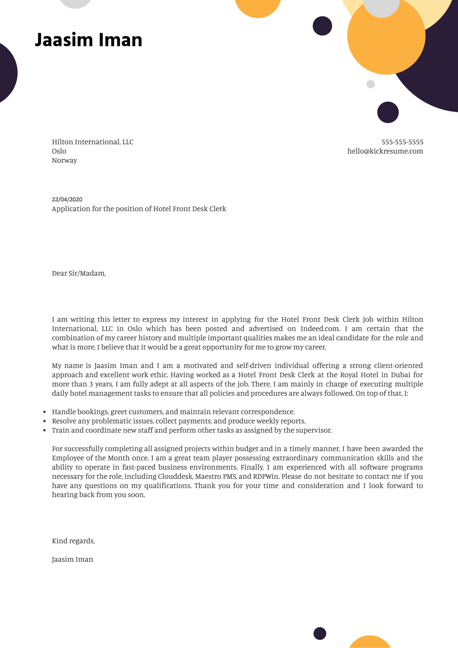 Receptionist Cover Letter Samples from s3-eu-west-1.amazonaws.com