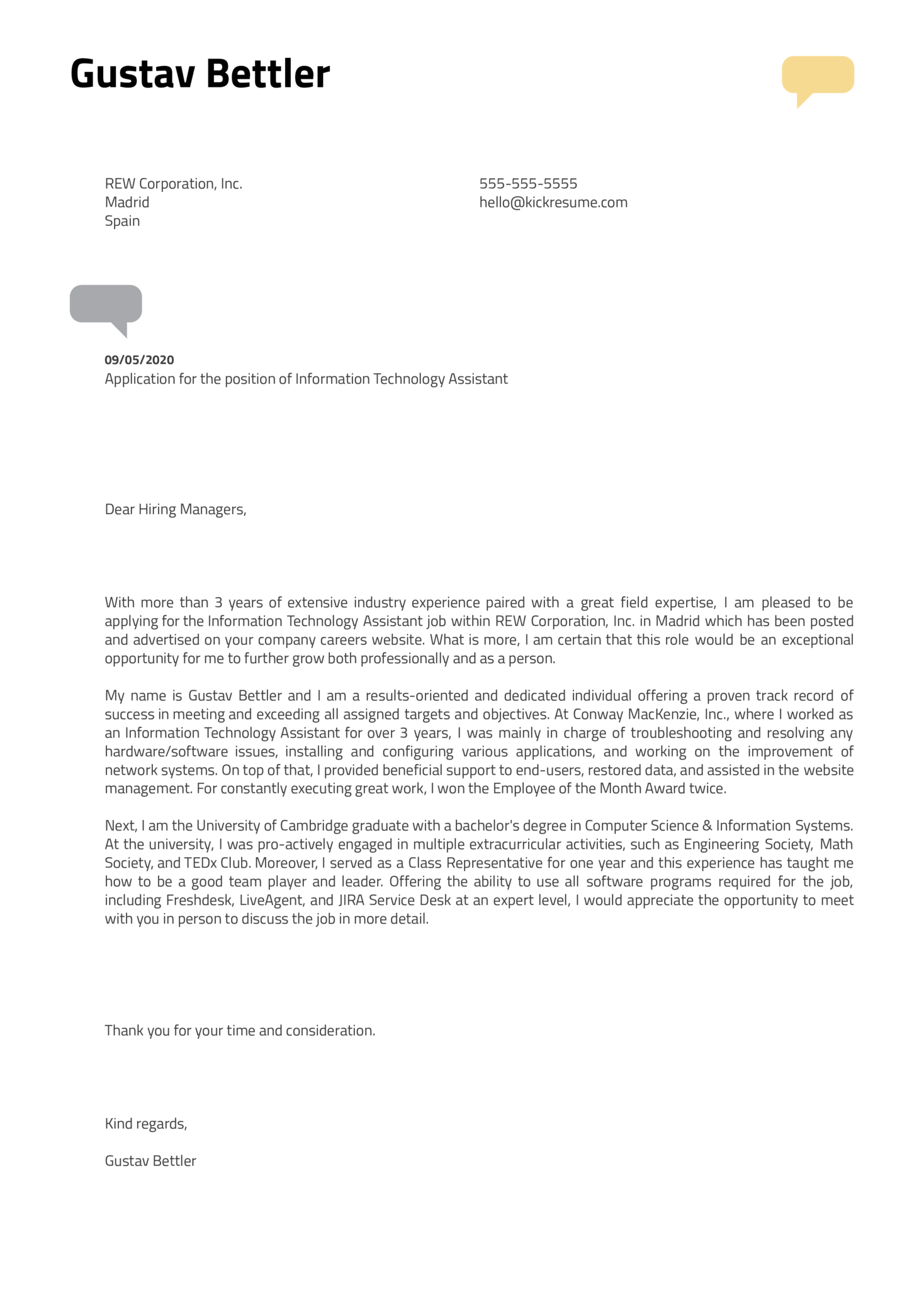Download Magnificent Cover Letter Helpdesk  You Must Try