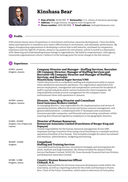 Consulting Resume Samples from Real Professionals Who got ...