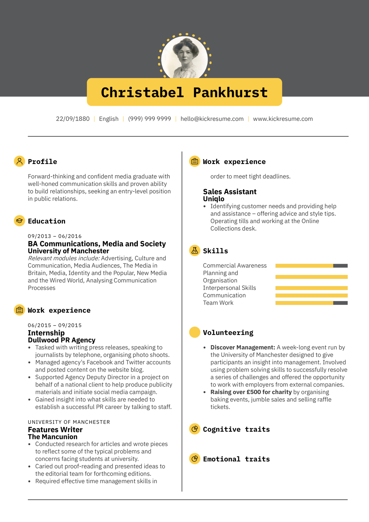 resume examples by real people  student resume public