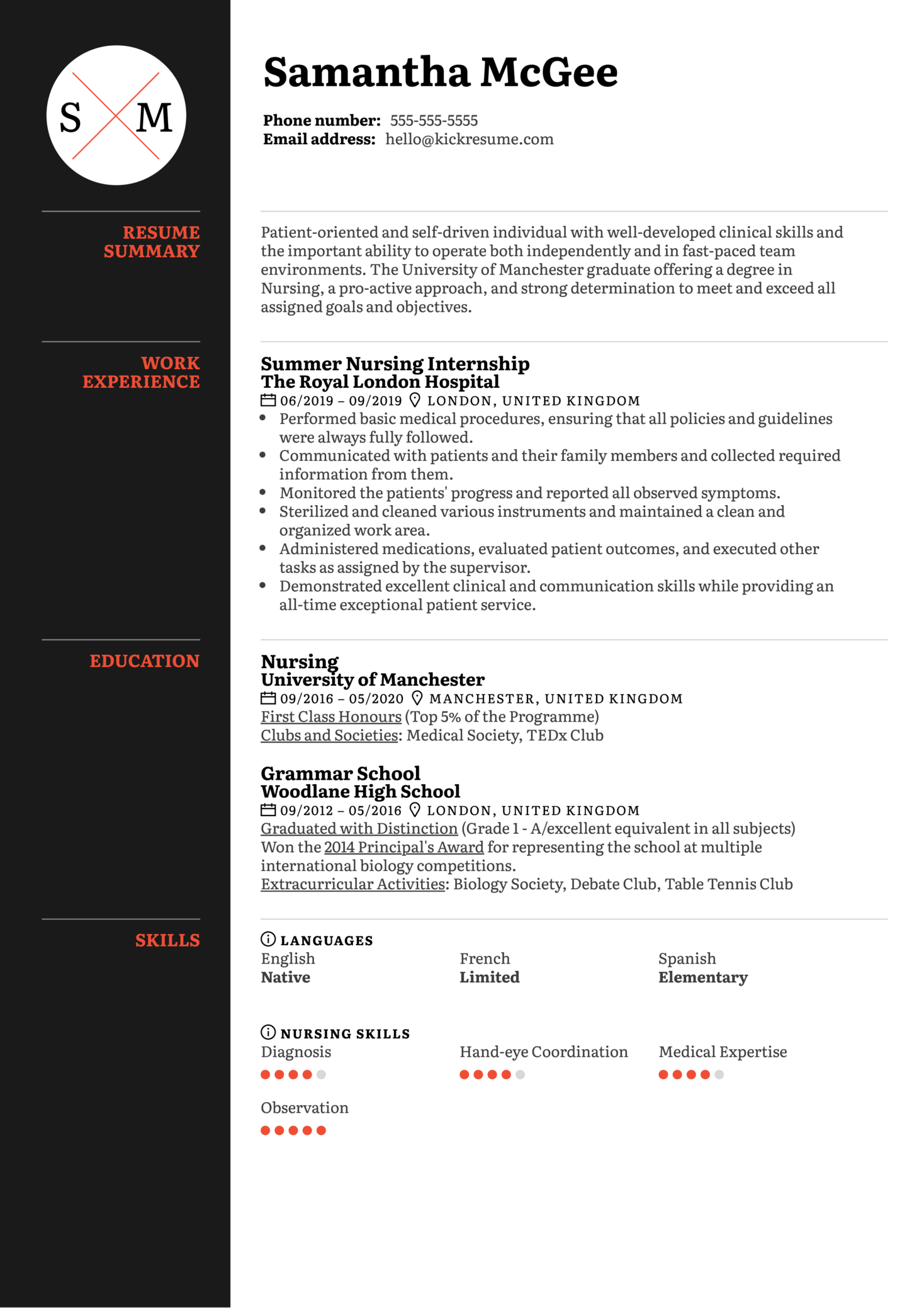 New Grad Nurse Resume Template (časť 1)