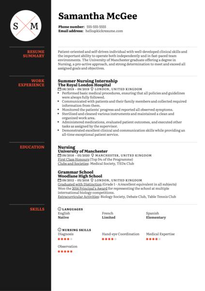 geriatric nurse resume sample  kickresume
