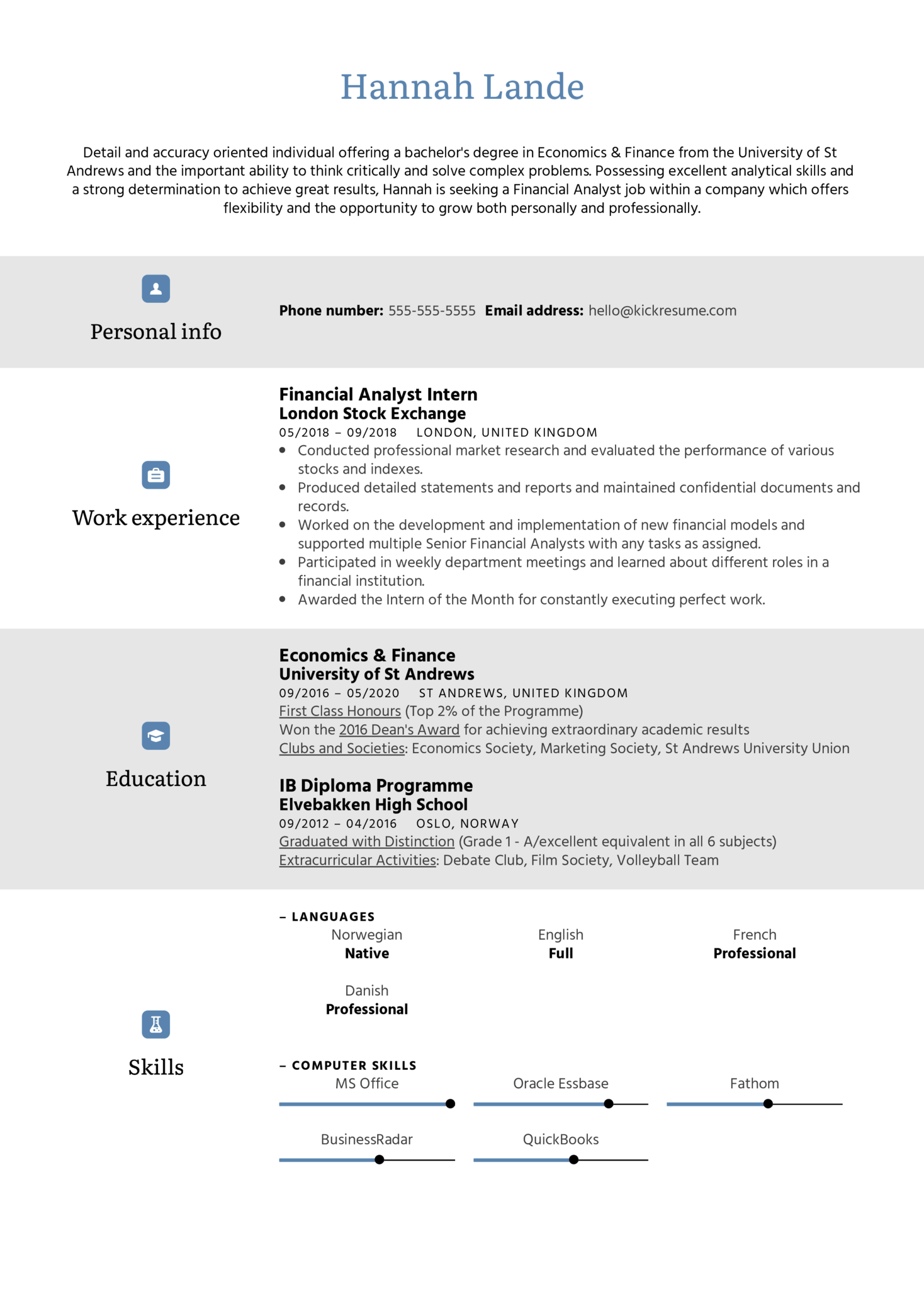 Objective Statement Resume Example