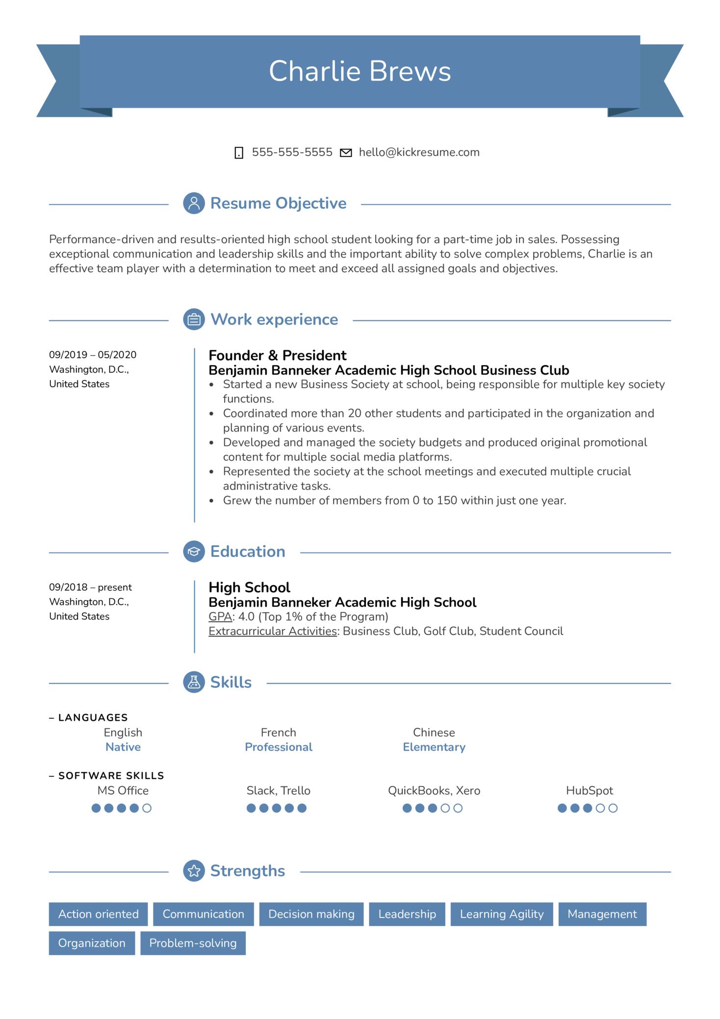 Part Time Job Resume Sample Kickresume