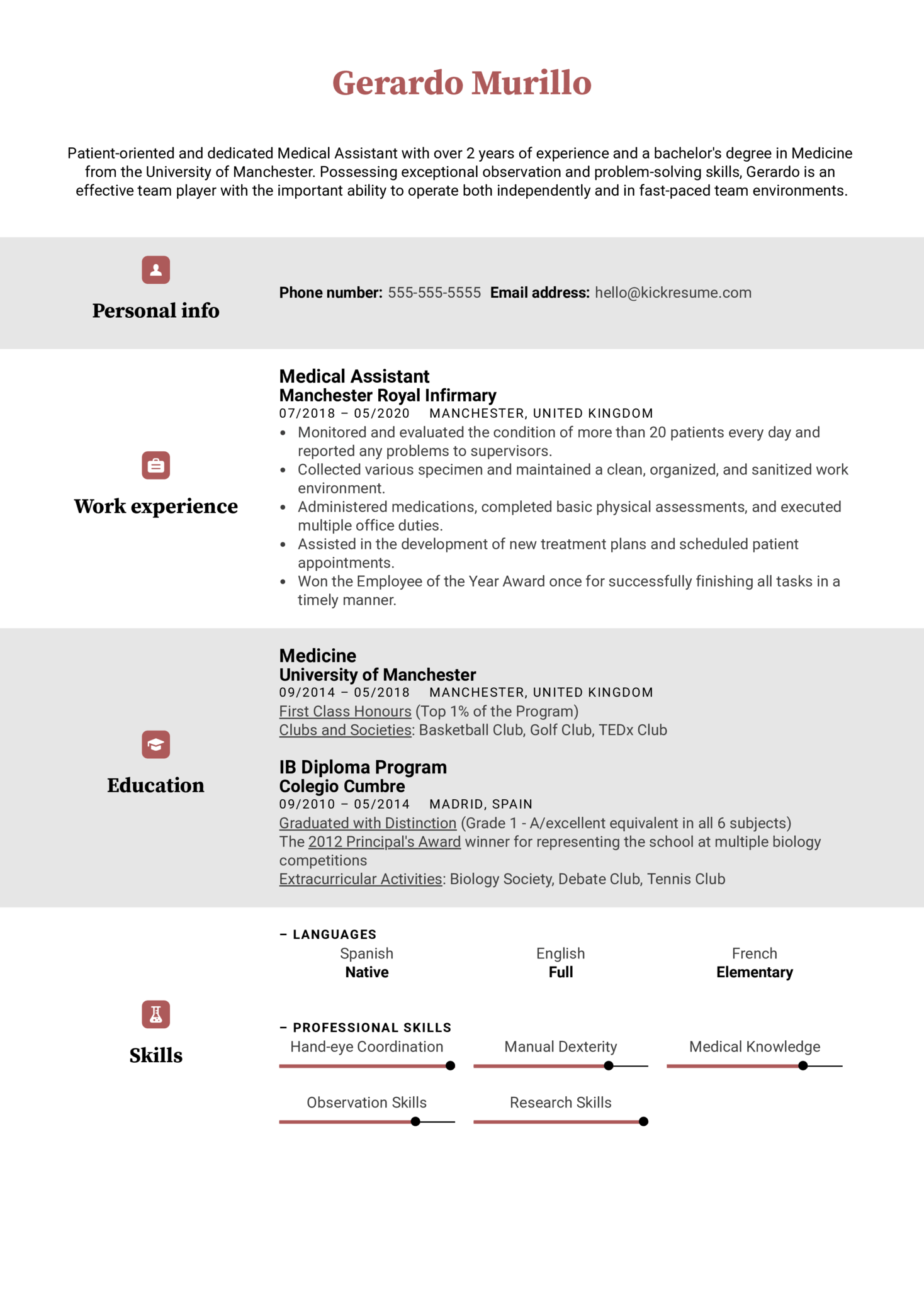 Medical Assistant Resume Example Kickresume