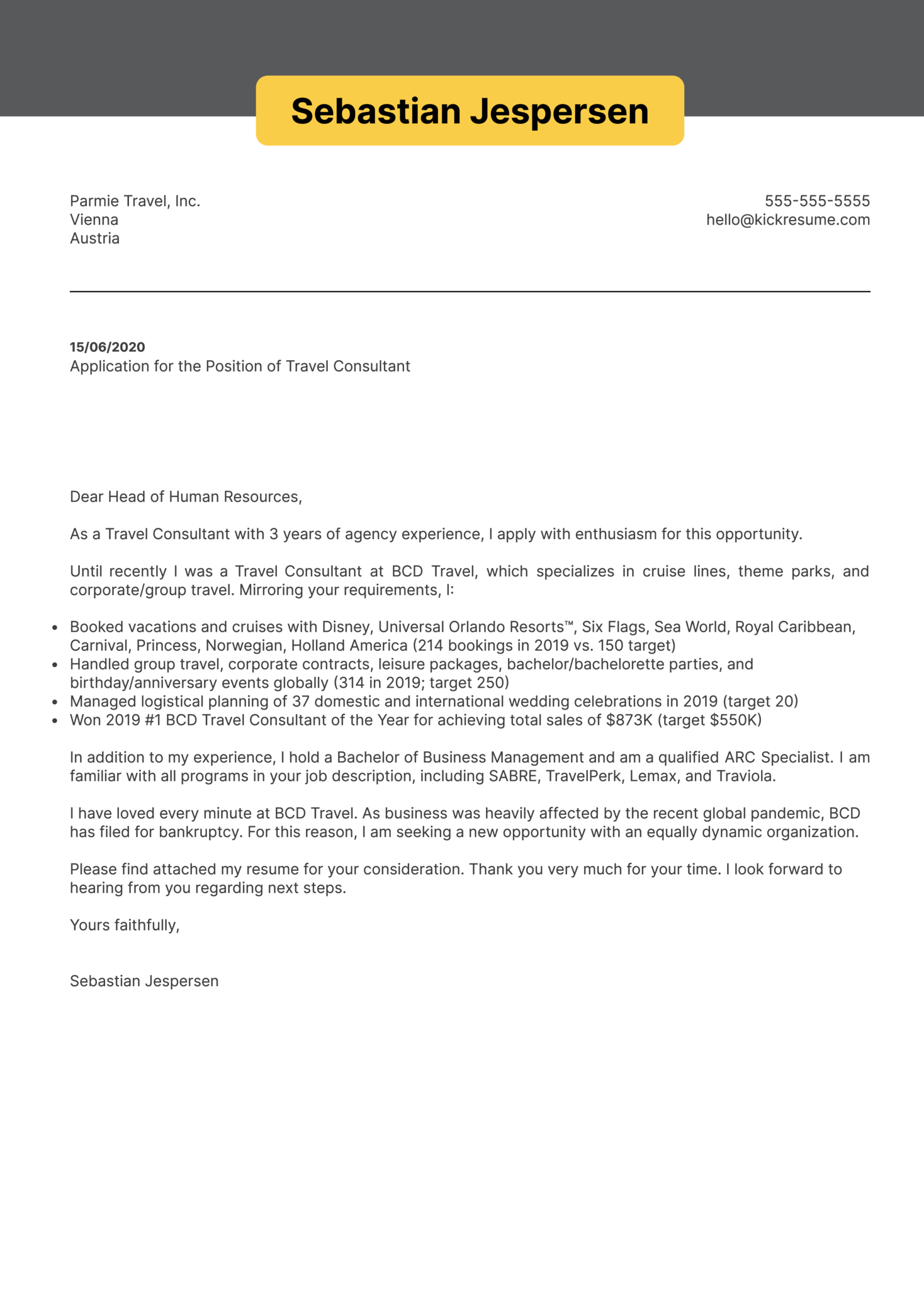 Corporate traveler cover letter hobbies and interests in resume