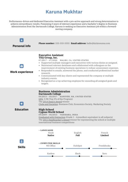 Modern CV Template