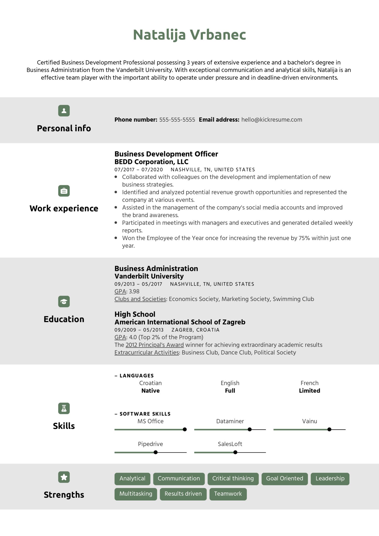 Professional CV Template (Part 1)