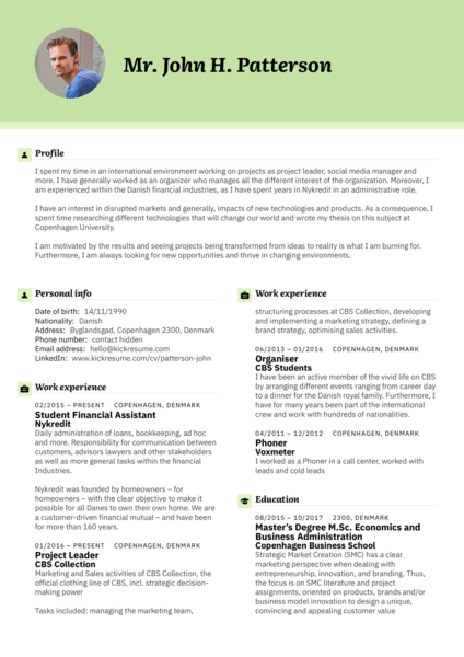 Several Project manager Cv sample Resume samples Career help center