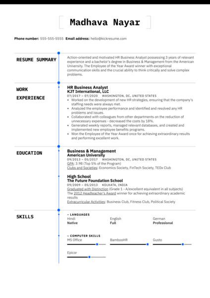 Easy Resume Template