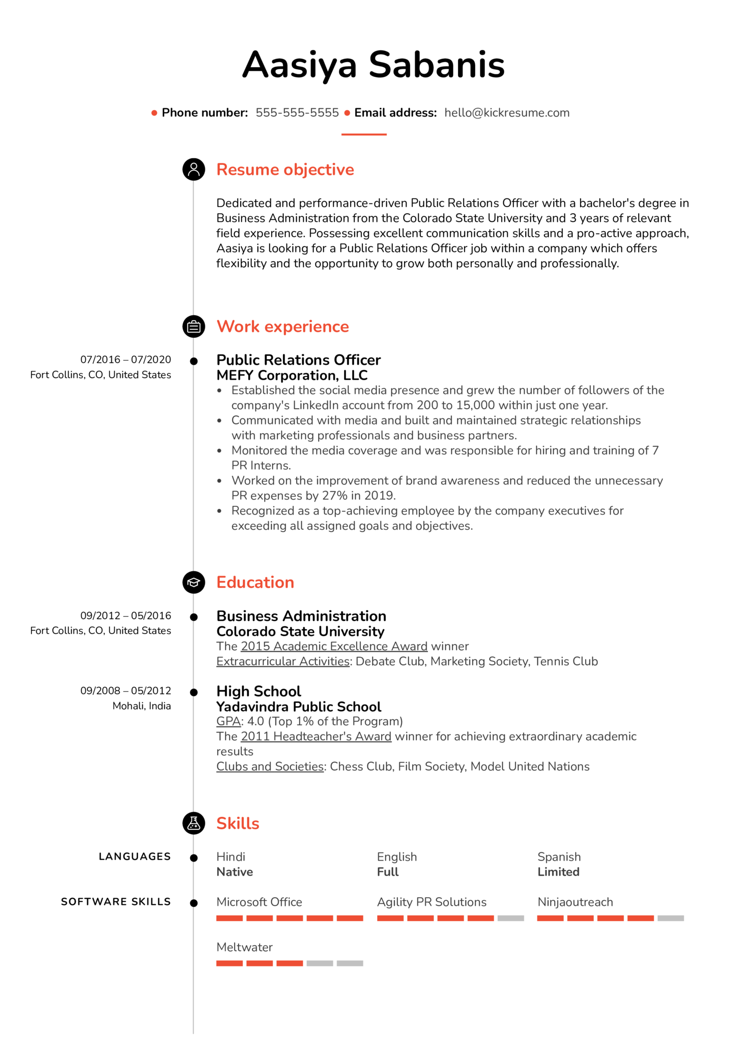 Simple Resume Example