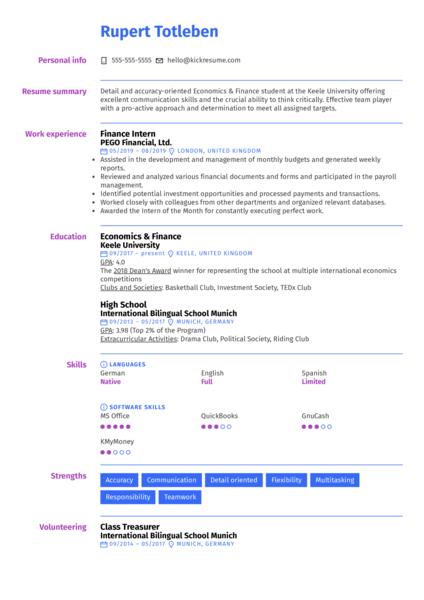 University Student CV Template