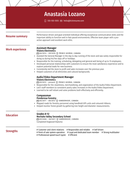 Telus Call Center Representative Resume Example