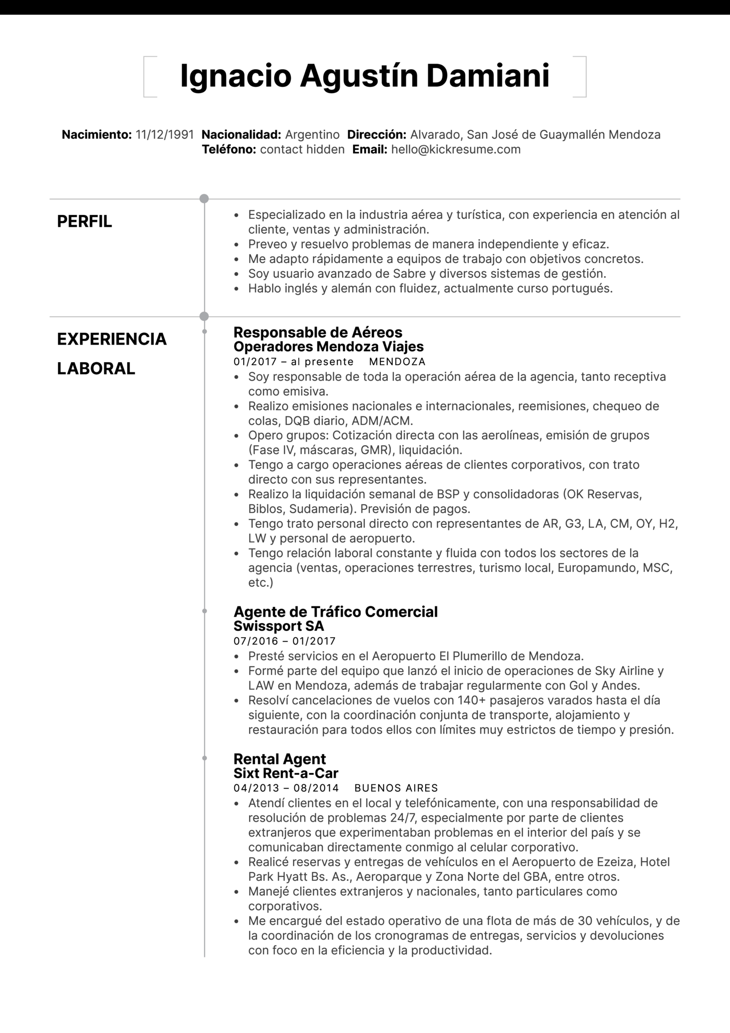 Resume Examples by Real People: Muestra de reanudación de agente de ...