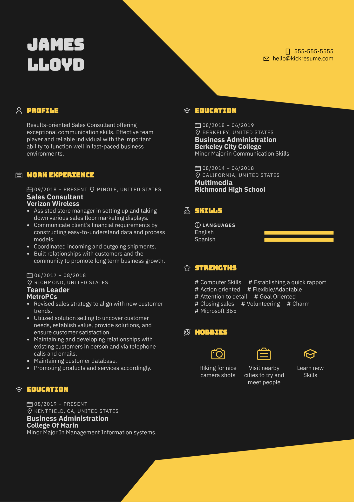 Sprint Sales Consultant Resume Example