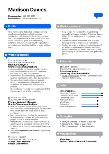 Informa	Client Relationship Manager Resume Example