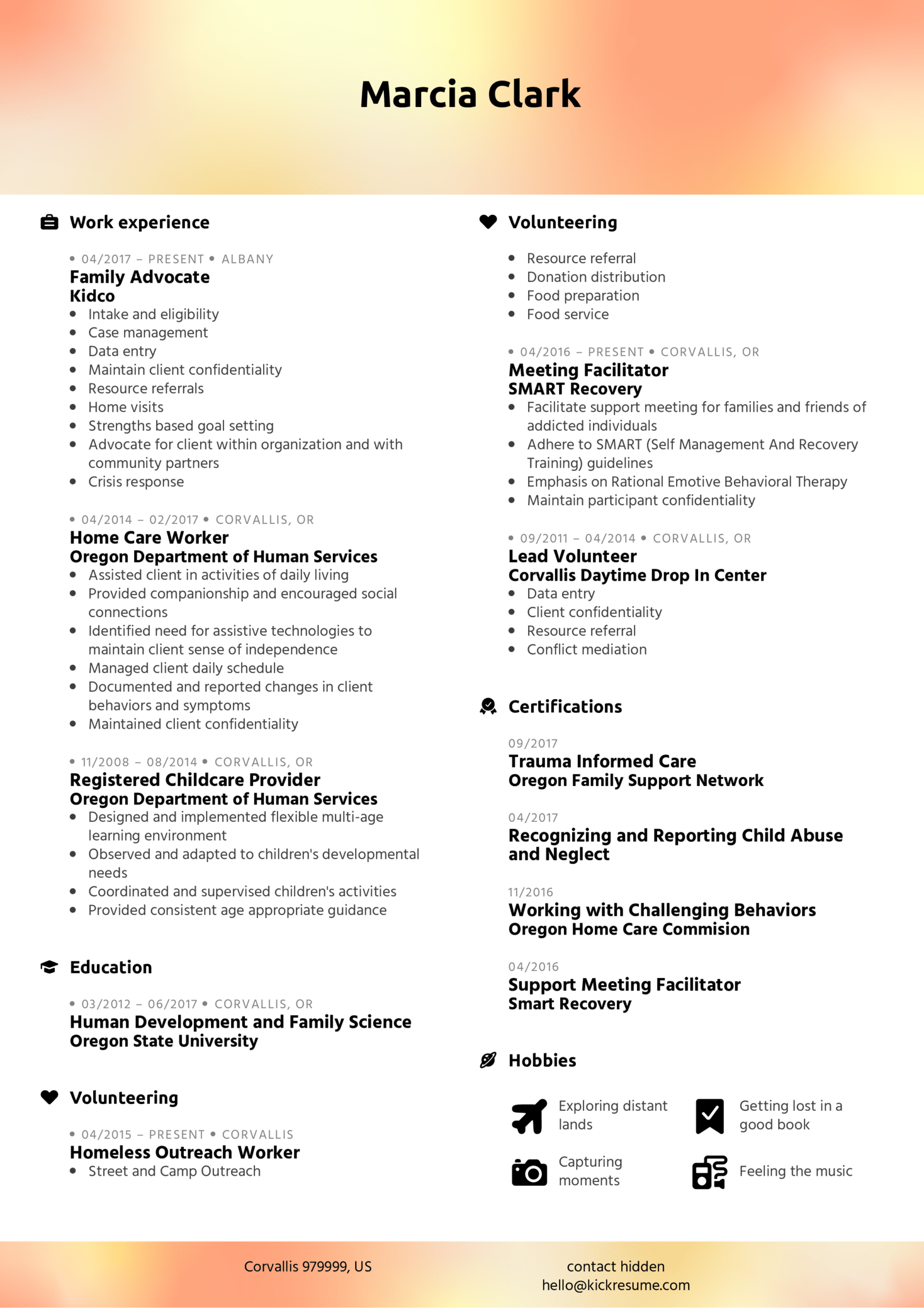 resume examples by real people  family advocate resume