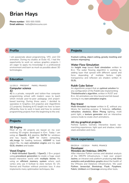 Dwarf Animation Studio Software Engineer Resume Example