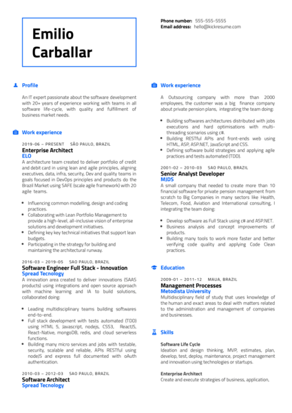 Amazon Web Services Senior Advisory Consultant Resume Example