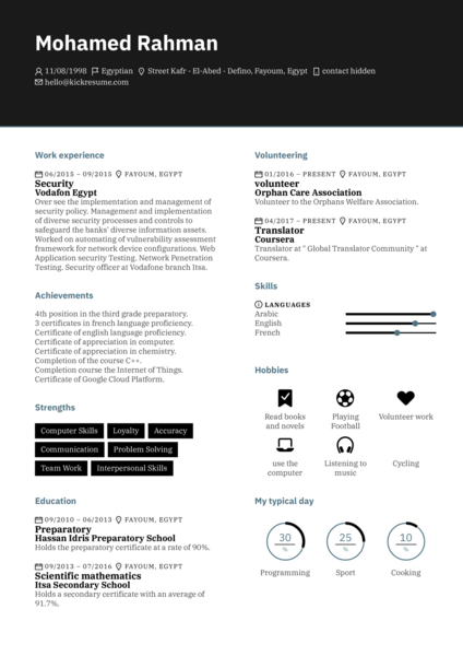 IBM Software Engineer Resume Example
