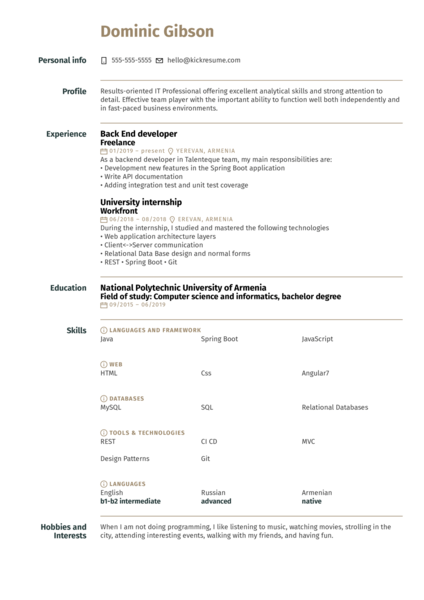 Workfront Full Stack Intern Resume Example