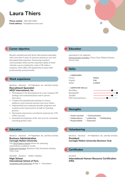 Recruitment Specialist Resume Sample