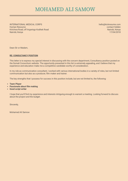 Project Management Cover Letter Samples from Real