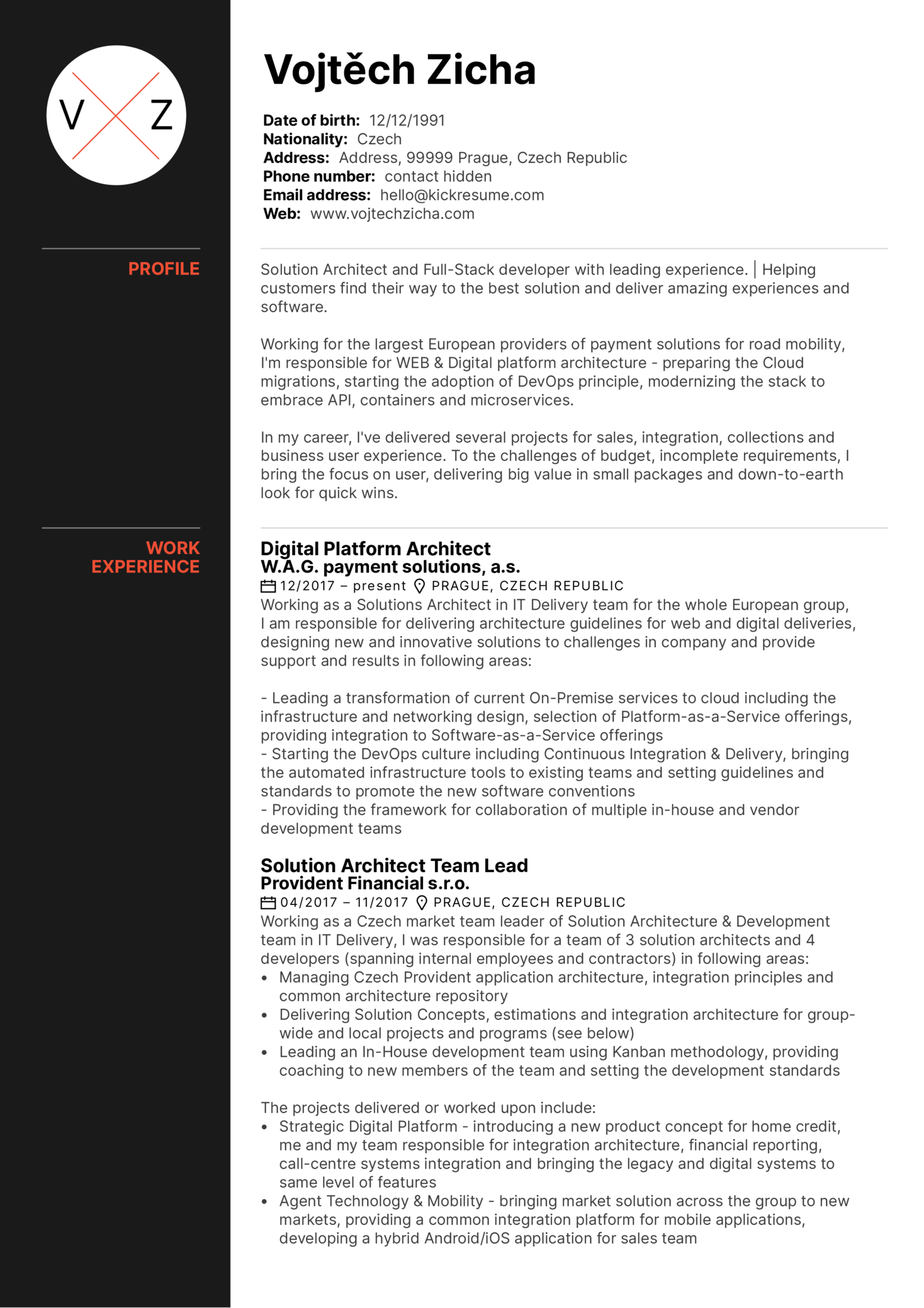 Resume Examples by Real People: Solution architect resume