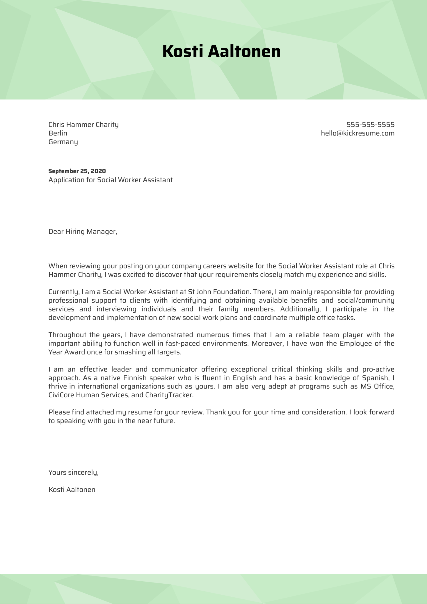 Social Worker Cover Letter from s3-eu-west-1.amazonaws.com