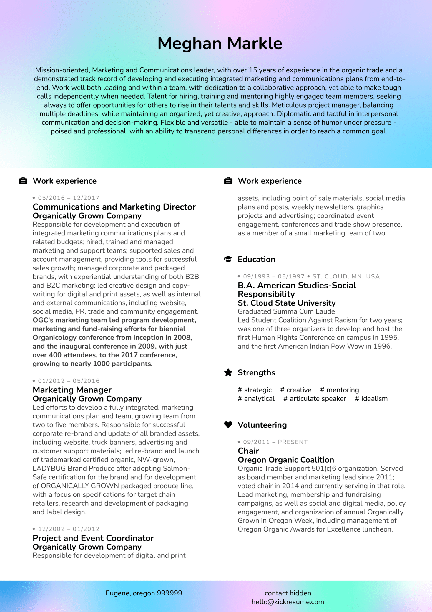 marketing director resume sample - Marketing Director Resume