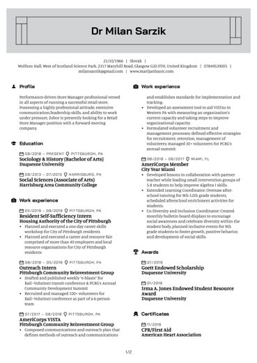 Communications Intern Resume Example