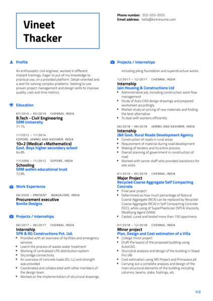 Procurement Executive Resume Sample