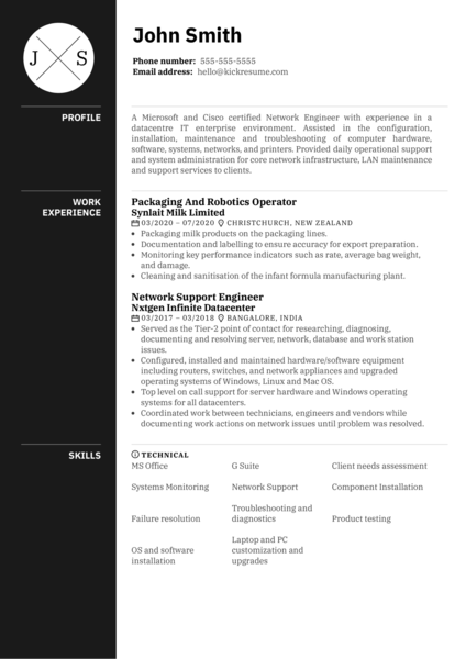 Principal Network Support Engineer Resume Sample