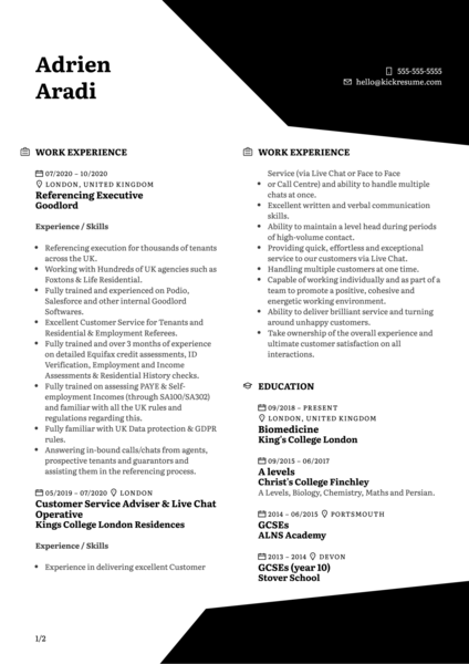 Enrolment Coordinator at Hult Resume Sample