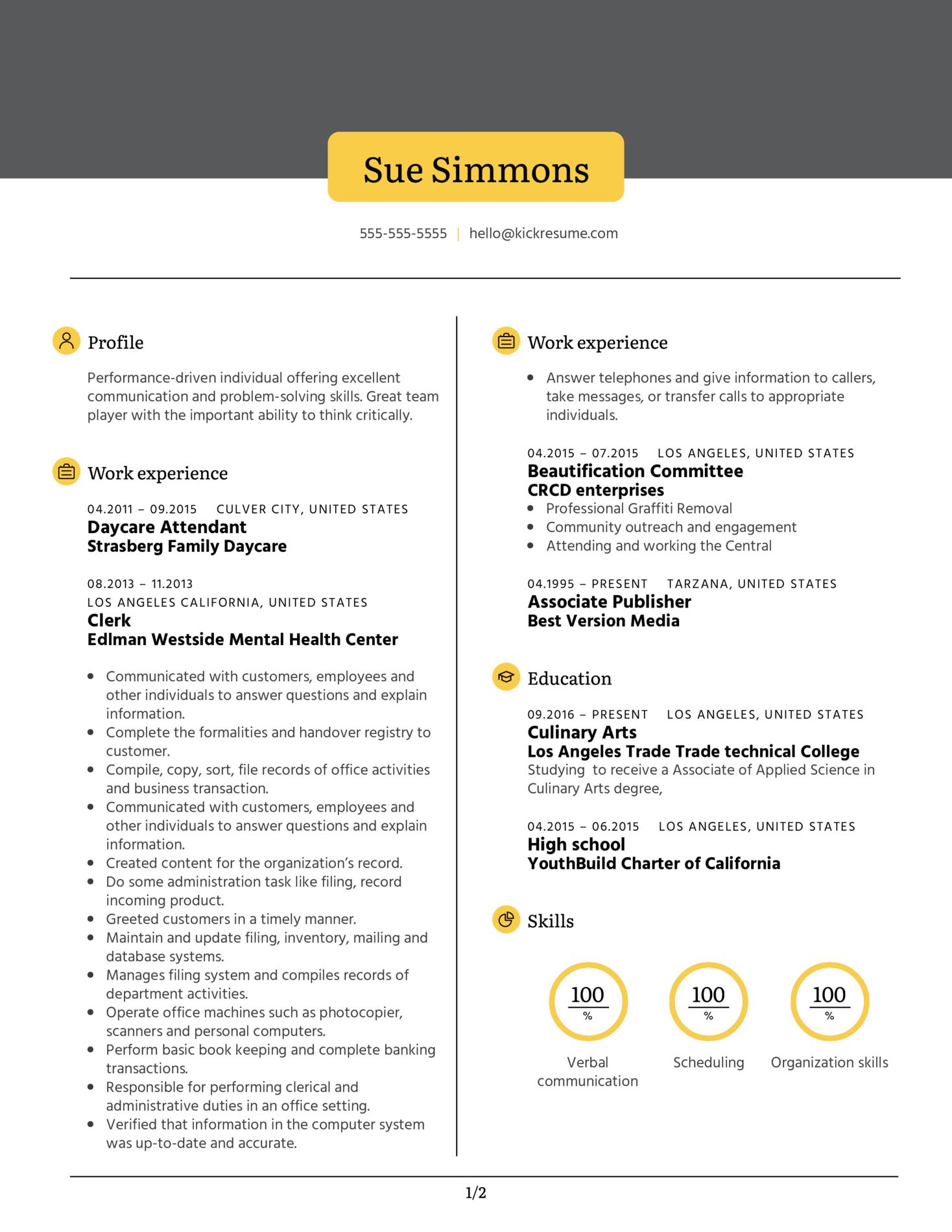 Publisher at Best Version Media Resume Sample (Part 1)