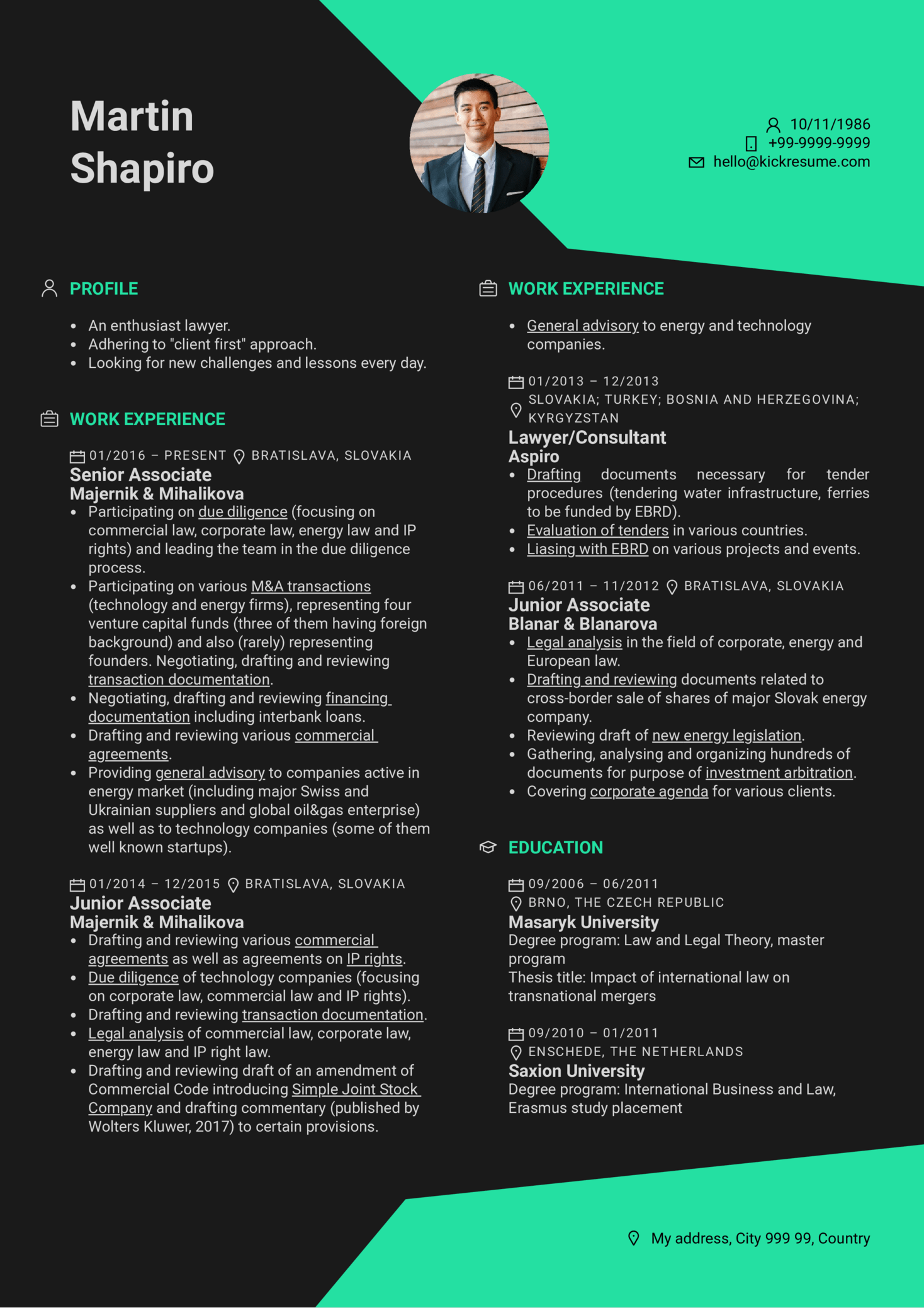 resume examples by real people  senior associate resume example