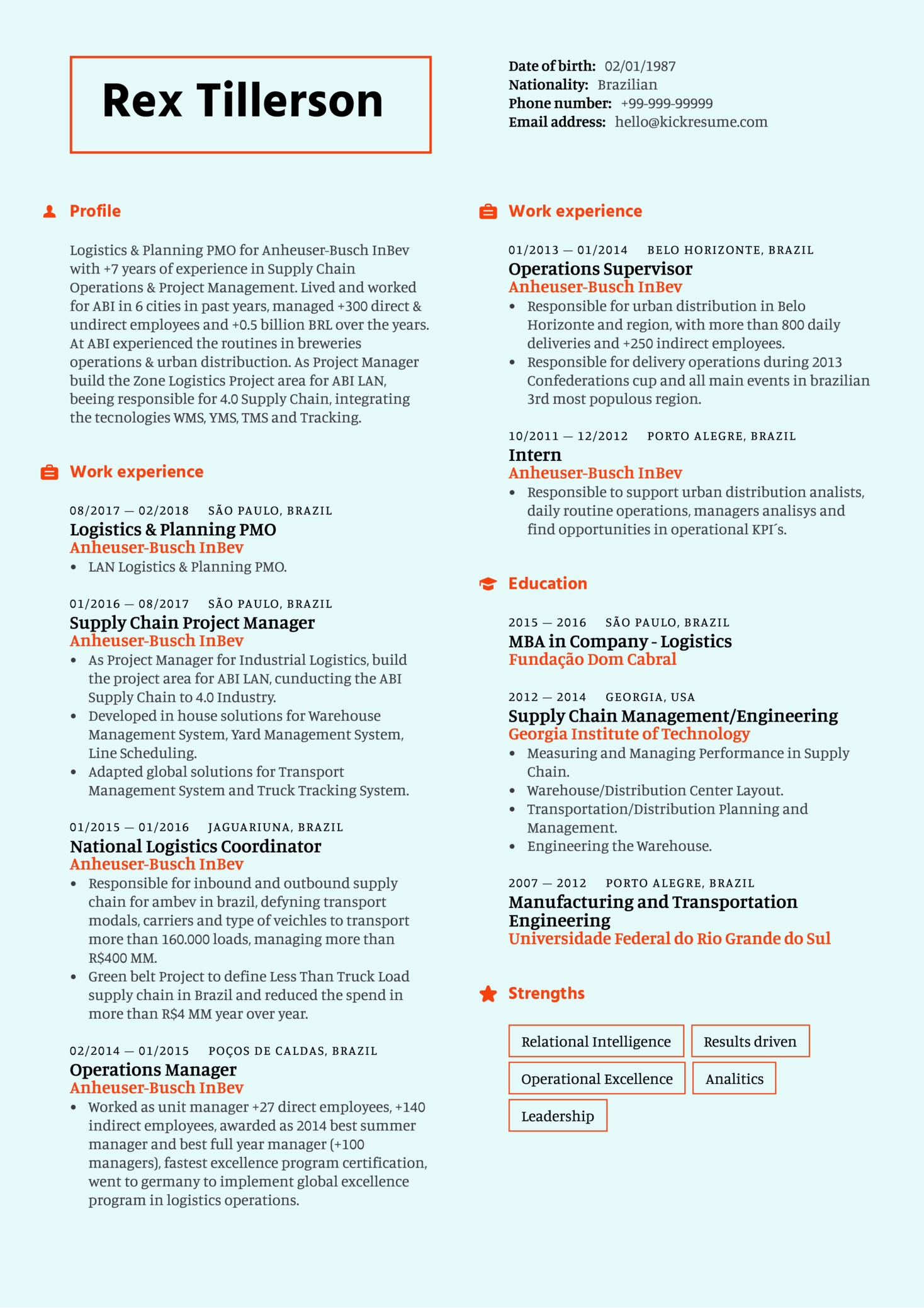 Resume Examples By Real People Supply Chain Project