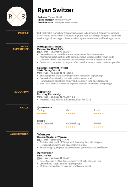 Sales Associate at LUSH Resume Template