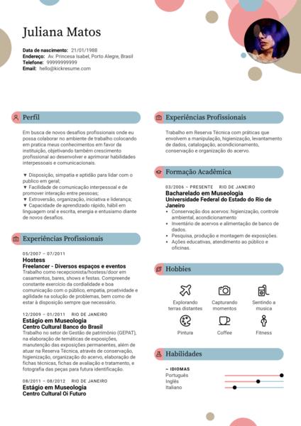 Modelo Curriculum Vitae Hostess [PT]