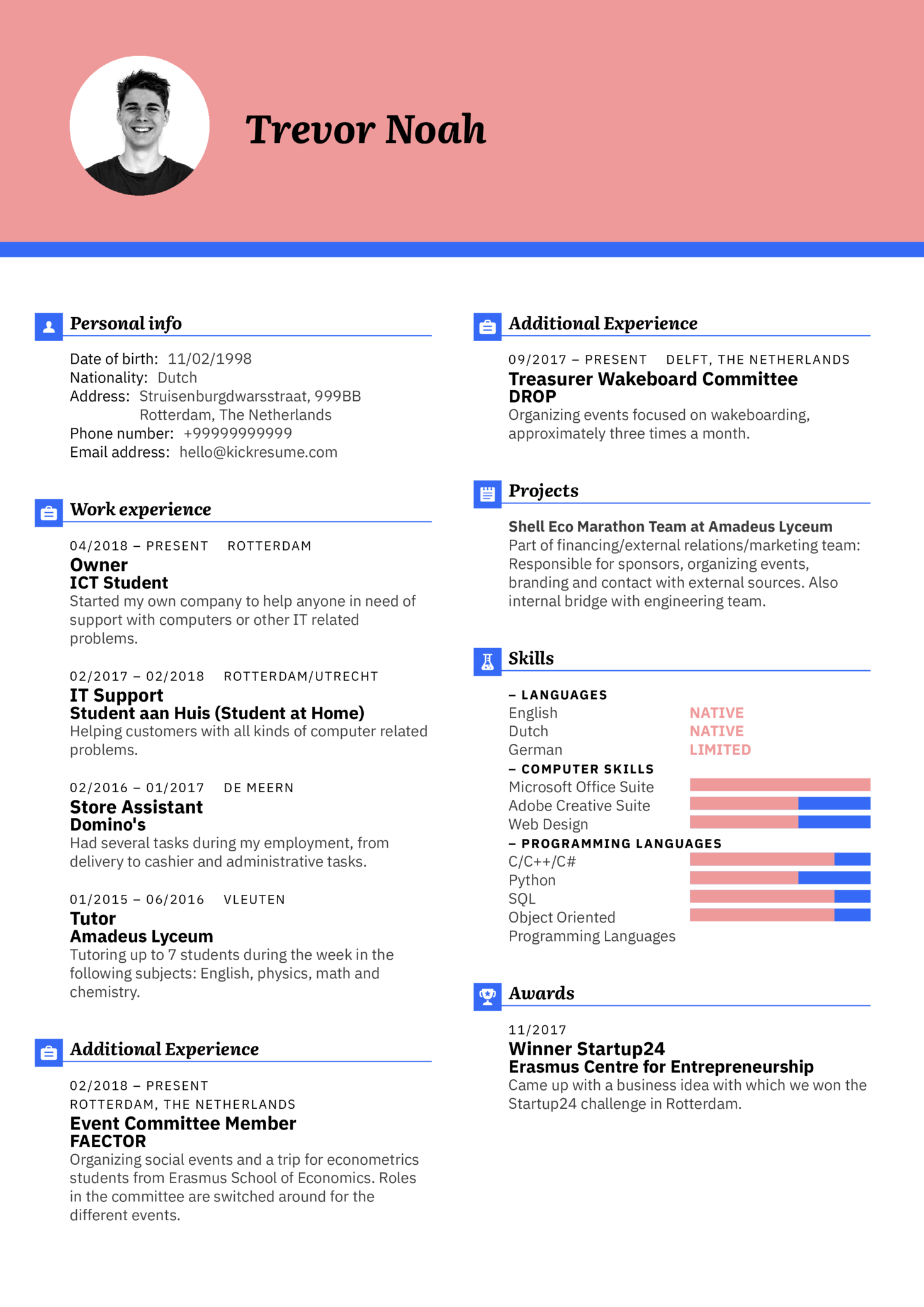 resume examples by real people  erasmus event coordinator