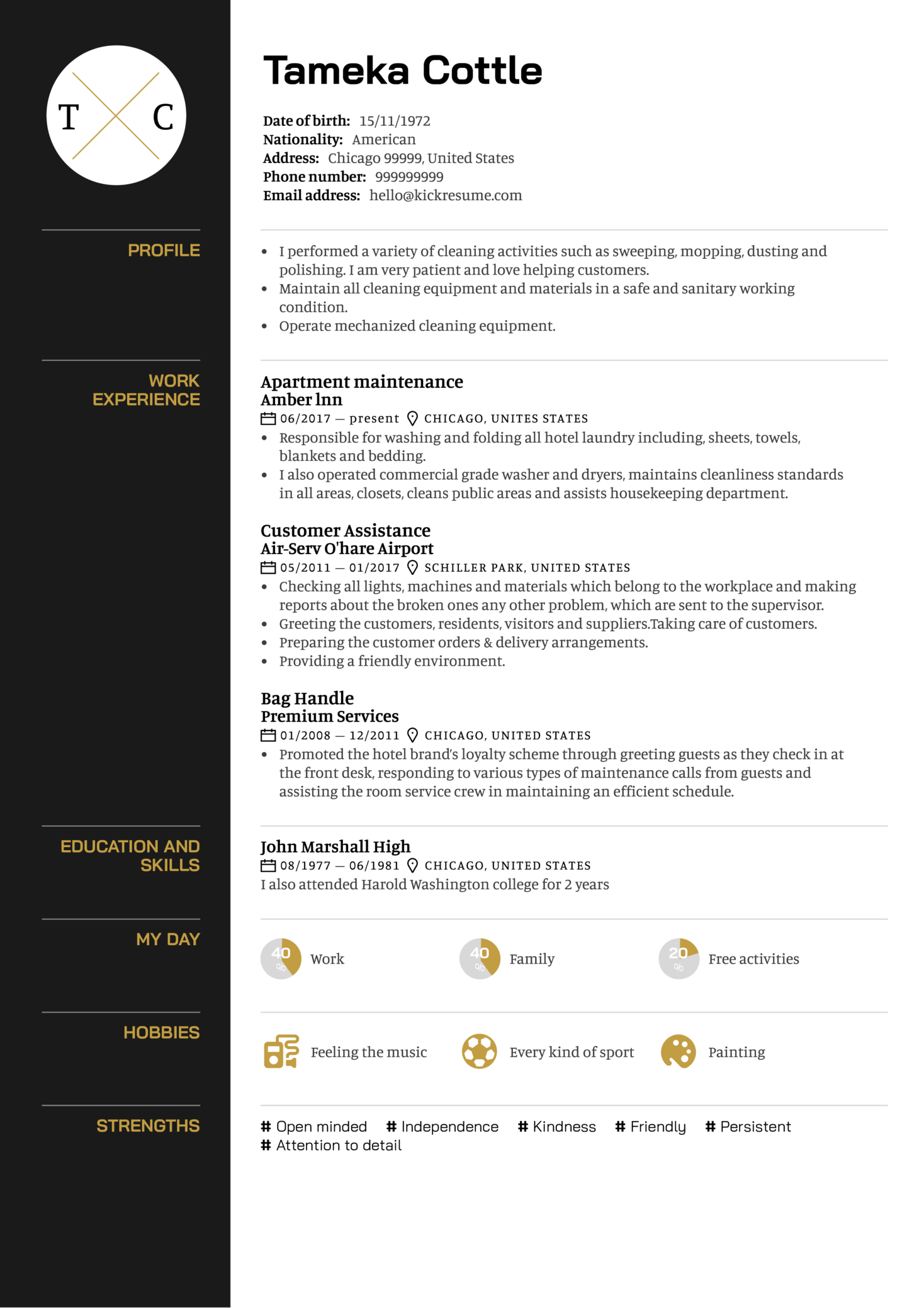 resume examples by real people  apartment maintenance