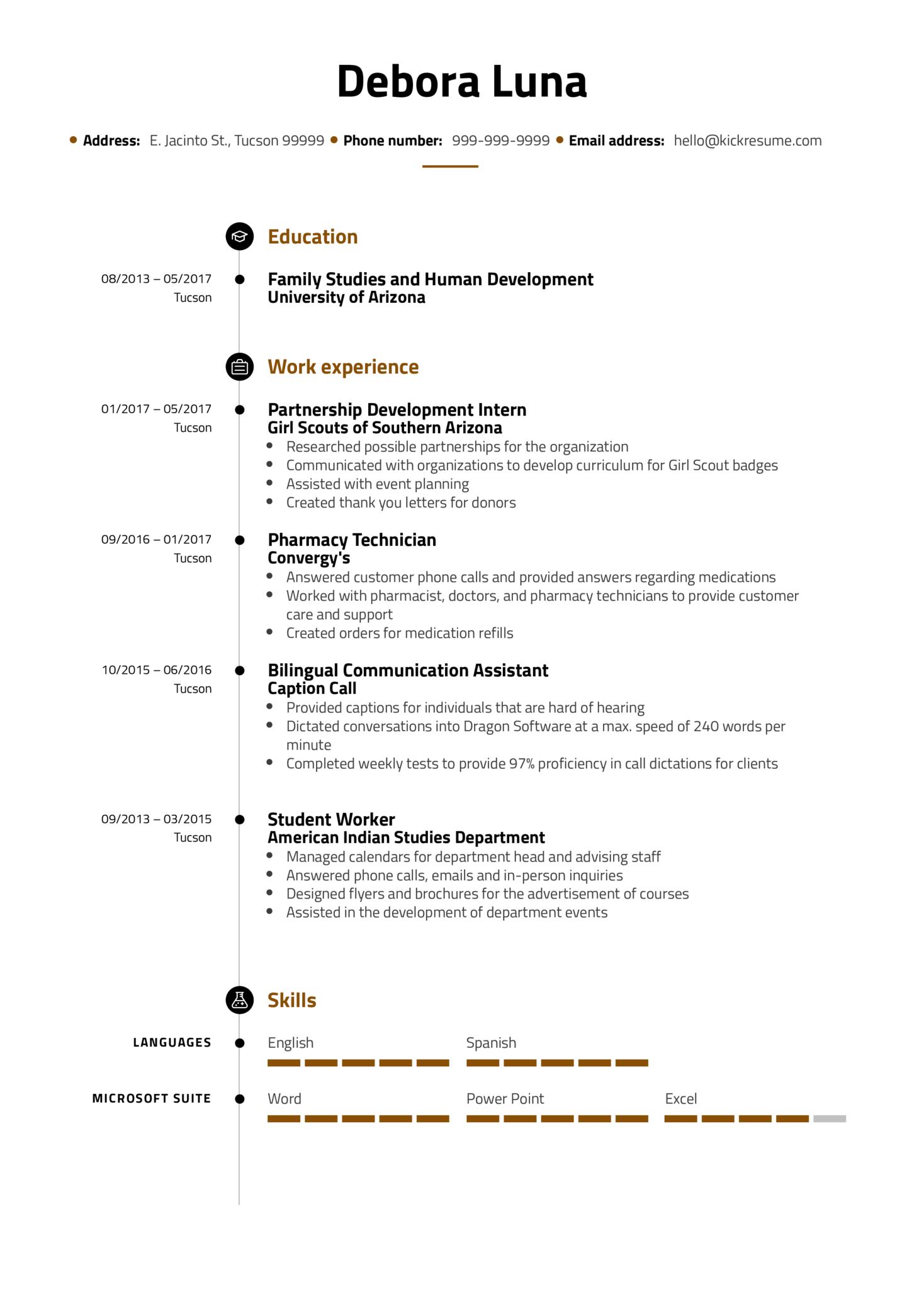 Service Coordinator Resume Example