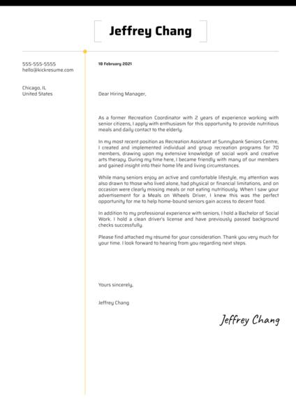 Hospitality Cover Letter Examples Kickresume