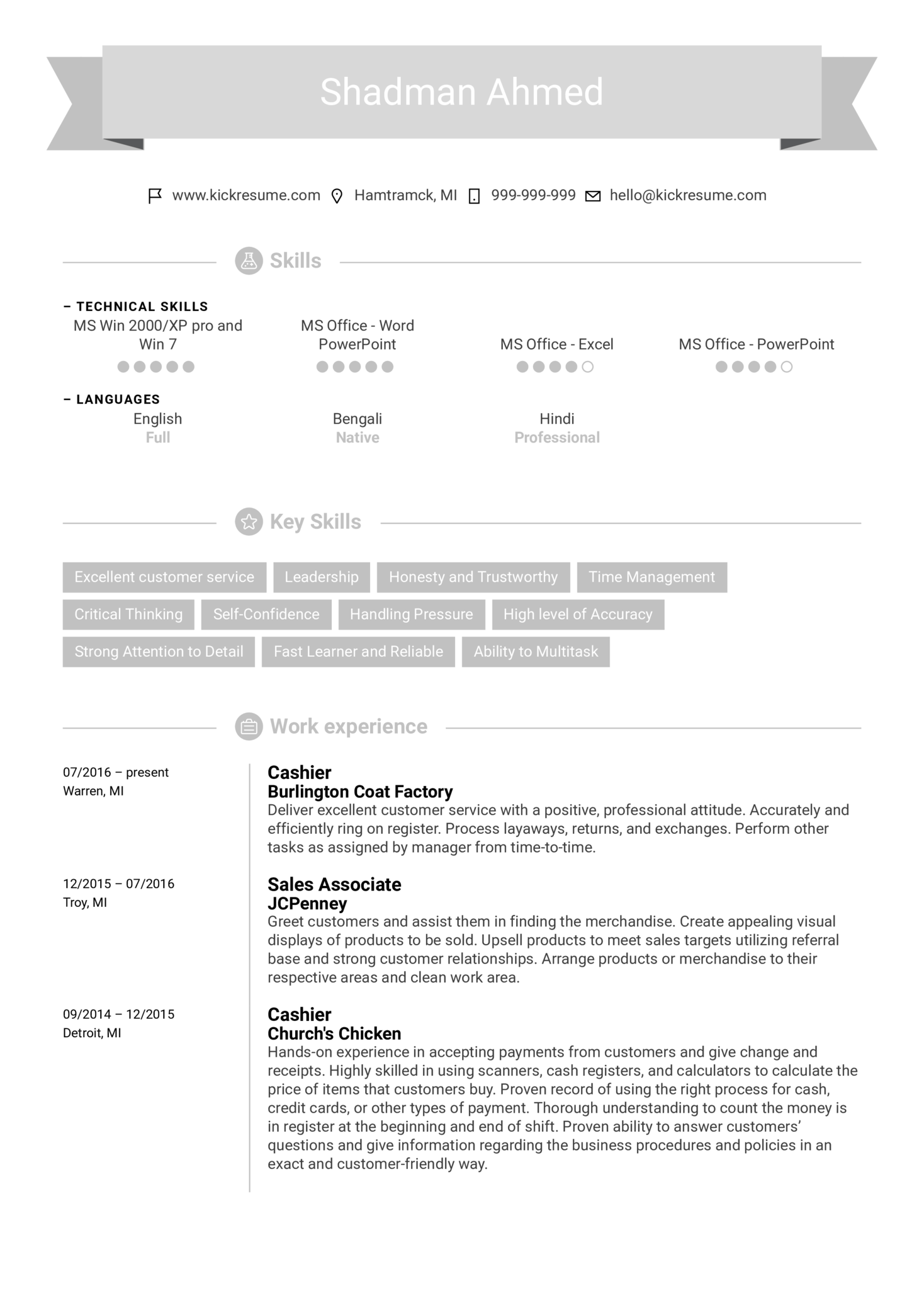 resume examples by real people  office supply associate cv