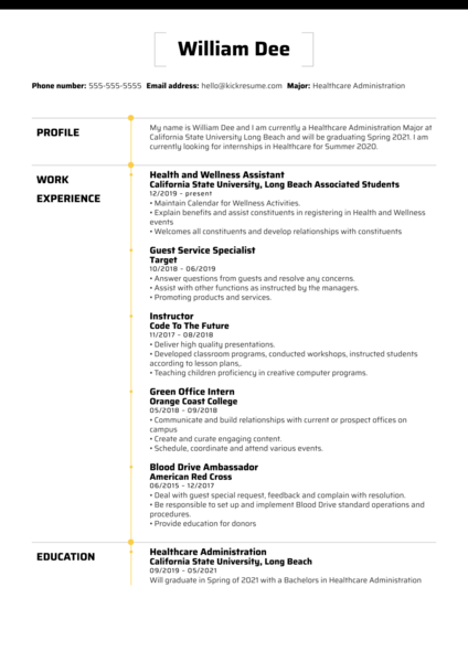 Beach Balance Assistant at UC Long Beach Resume Sample