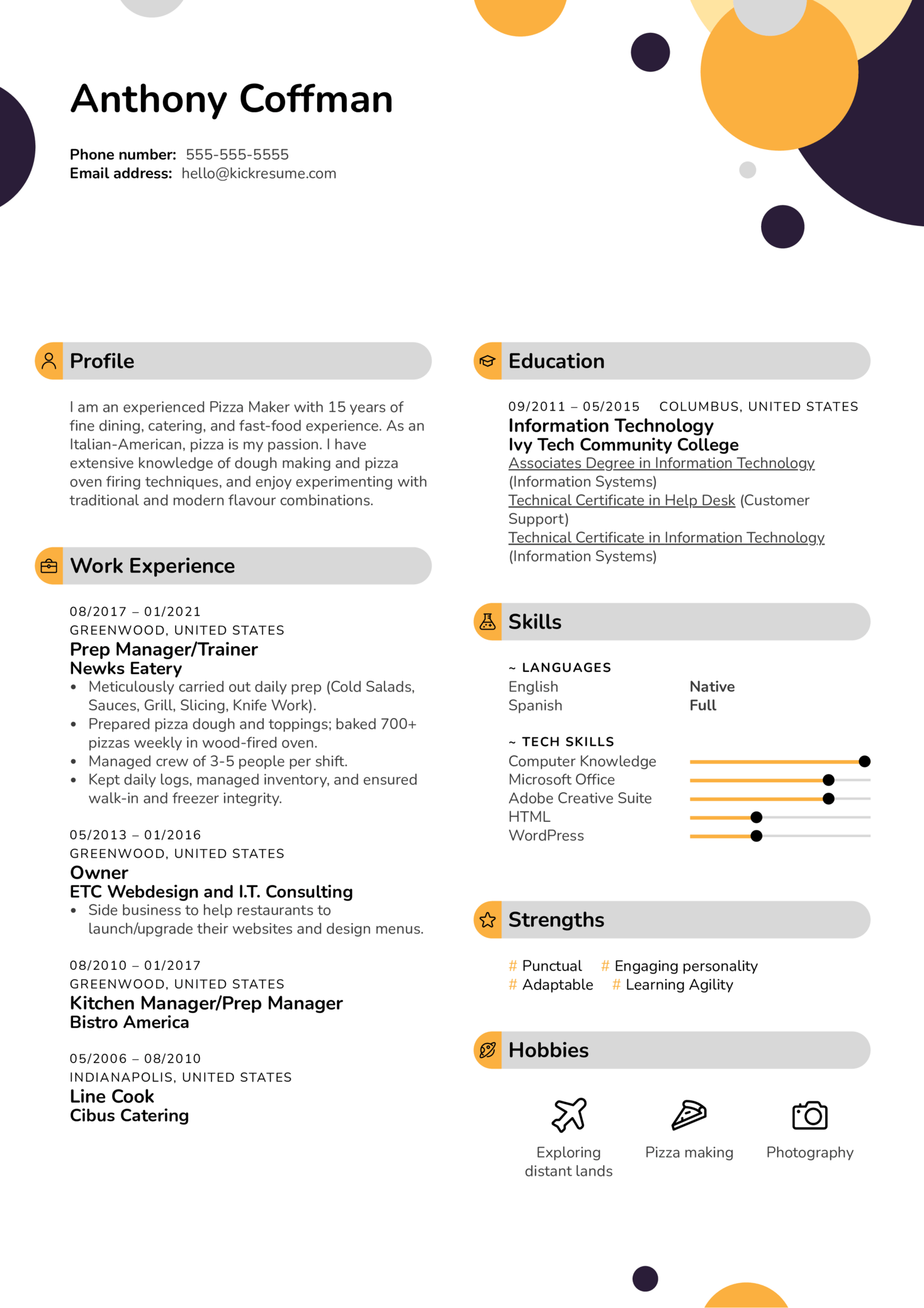 Resume Examples By Real People Pizza Maker Resume Example
