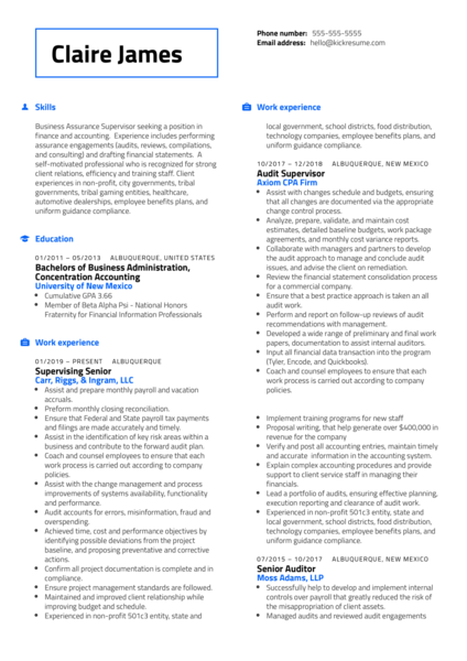 Controller at RiskSense Resume Sample