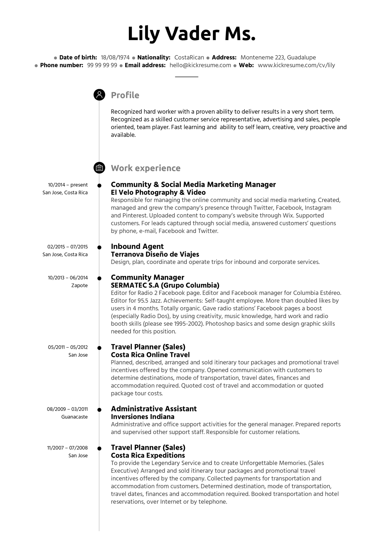 Administrative Assistant resume example | Resume samples | Career ...