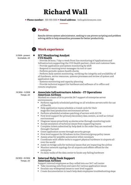 Access Management Administrator at Charles Schwab Resume Sample